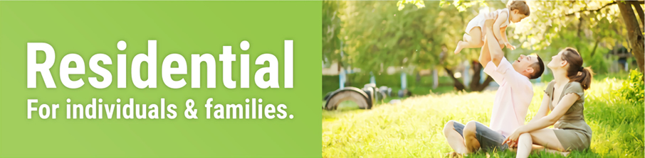 residential - for individuals and families